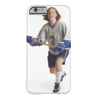 a teenage caucasian female in a white jersey barely there iPhone 6 case