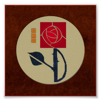 A Terrific Arts & Crafts Rose in the Mission Style Poster