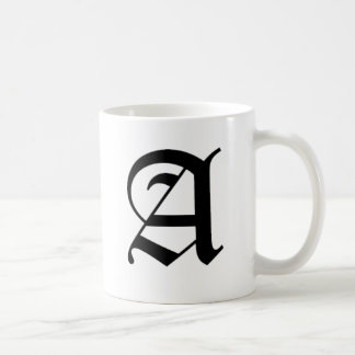 A-text Old English Basic White Mug