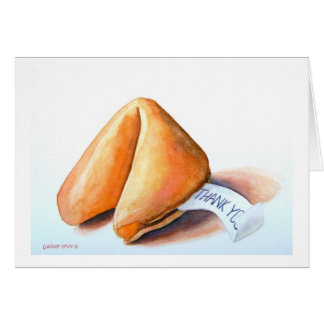 """a thank you card titled: """" THE GOOD FORTUNE COOKIE"""