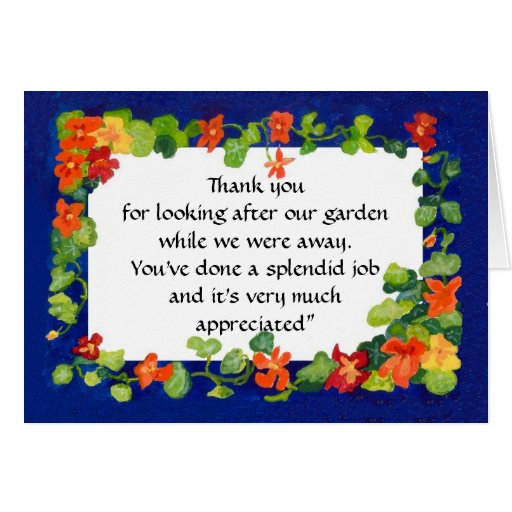 A 'Thank You' Card to Personalise - Nasturtiums