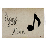 A Thank You Note Card