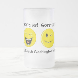 A Thank You Smile - SRF Frosted Glass Mug