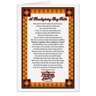 A Thanksgiving Day Fable  Greeting Card