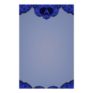 A- The Falck Alphabet (Blue) Stationery Design