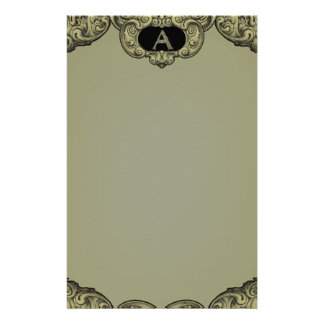 A- The Falck Alphabet (Golden) Customised Stationery