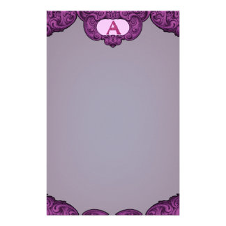 A- The Falck Alphabet (Pink) Customised Stationery