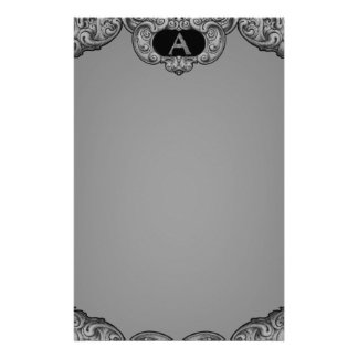 A- The Falck Alphabet (Silvery) Stationery Paper