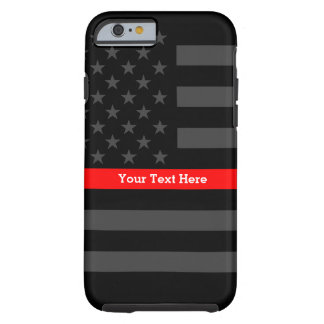 A Thin Red Line US Flag to Personalize on a Tough iPhone 6 Case