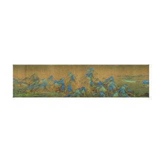 A Thousand Li of Rivers and Mountains Canvas Print