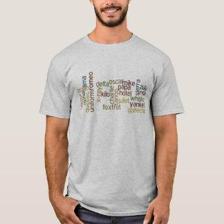 A Through Z Phonetic Alphabet Telephony (Wordle) T-Shirt