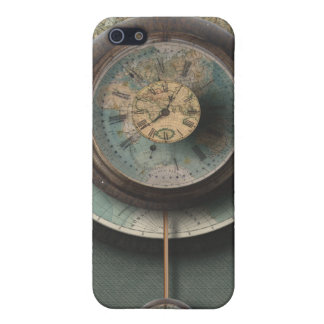 A Time and Place Steampunk Clock World Map iPhone 5 Case