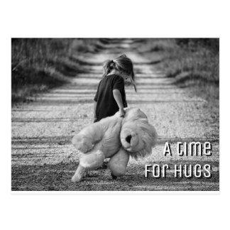 A time for a hug postcard