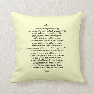 A Time for Everything-Scripture Quote Cushion