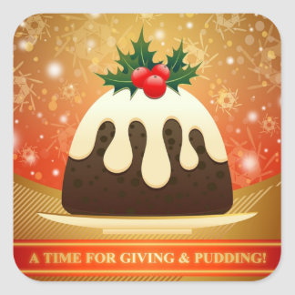 A Time For Giving and Pudding Christmas Stickers
