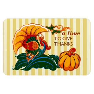 A Time To Give Thanks. Thanksgiving Gift Magnet