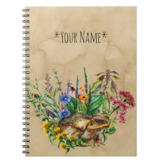 A Toad Among The Flowers Notebook