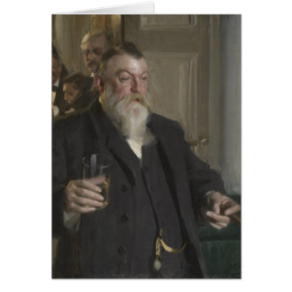 A Toast In the Idun Society by Anders Zorn Card