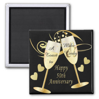 A Toast to a 50th Anniversary | DIY Text Magnet