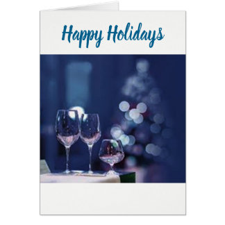 A TOAST TO ***HAPPY HOLIDAY*** AND NEW YEAR TOO CARD