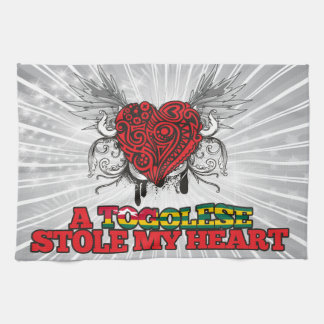 A Togolese Stole my Heart Towel
