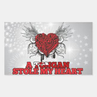 A Tongan Stole my Heart Rectangular Sticker