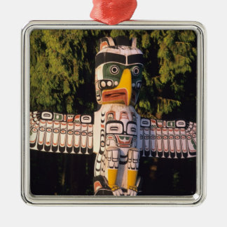 A totem pole In Vancouver, Canada. Metal Ornament