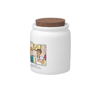 """A Touch of Humor"" Chill Pill Massage Comic Candy Jar"