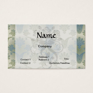 a touch of peacock damask design business card