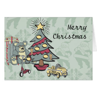 A Touch of Retro Christmas Card