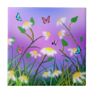 A Touch Of Spring,  Small Ceramic Tile