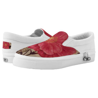 """A Touch Of Spring"""" Zipz Slip-On Shoes/ US Women Printed Shoes"""