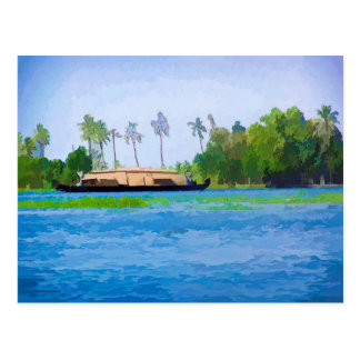 A traditional Houseboat in Kerala Postcard