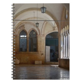 A Tranquil Monastery Cloister in Dubrovnik Notebook