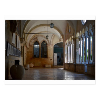 A Tranquil Monastery Cloister in Dubrovnik Postcard