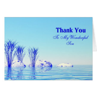 A tranquil scene Thank you son card