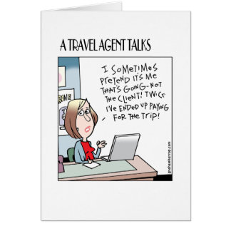 A Travel Agent talks cards