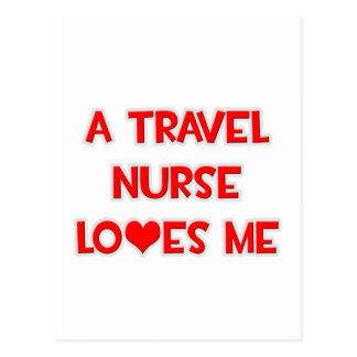 A Travel Nurse Loves Me Postcard