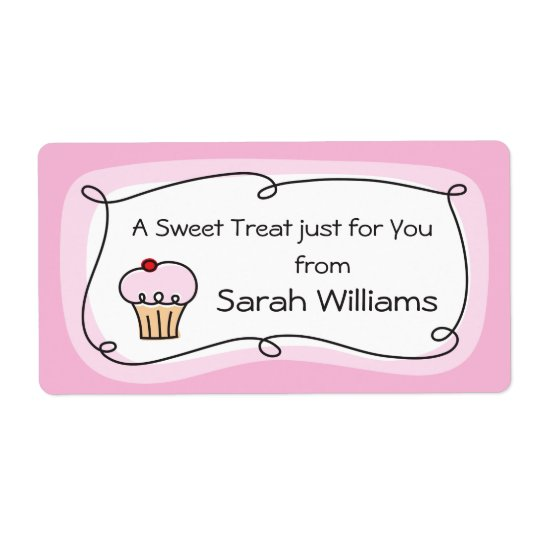 A treat for you personalised kitchen label shipping label