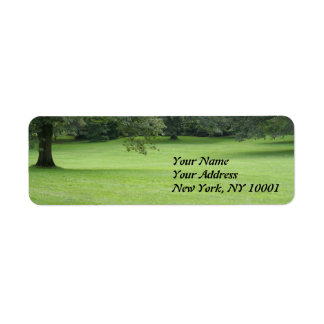 A Tree in a Field of Green Return Address Label