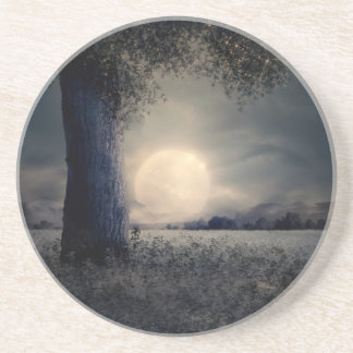A Tree in the Moonlight Coaster