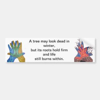 A Tree in Winter Bumper Sticker