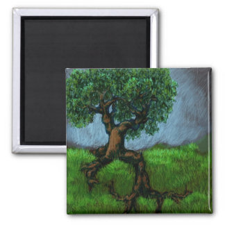 A Tree on a Hill Square Magnet