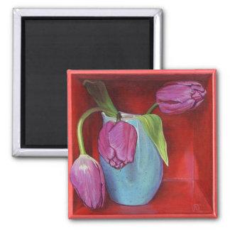 A Trio of Tulips Fine Art Magnet