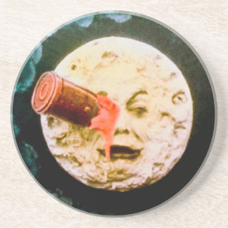 A Trip to the Moon Beverage Coaster