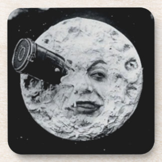A Trip to the Moon Beverage Coasters