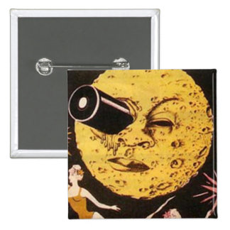 A Trip to The Moon Movie Poster 15 Cm Square Badge