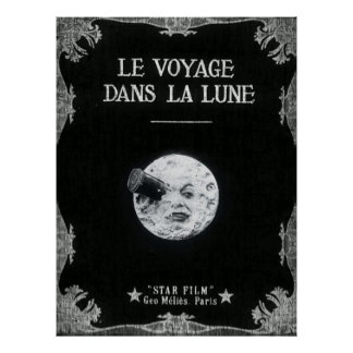 A Trip to the Moon or Le Voyage dans la Lune Retro Poster