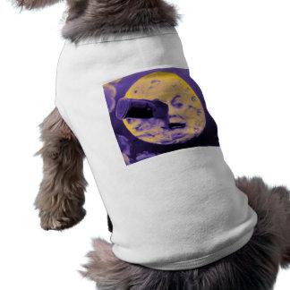 A Trip to the Moon (Purple Fizzy Fuzz) Sleeveless Dog Shirt