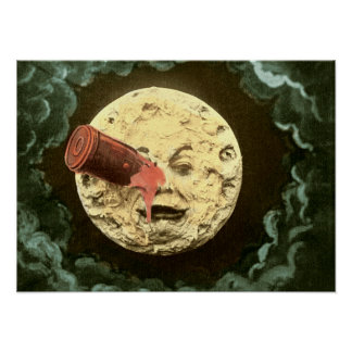 A Trip to the Moon vintage 1902 movie still Poster
